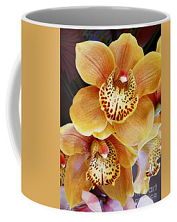 Golden Orchid Coffee Mug