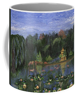 Coffee Mug featuring the painting Golden Pagoda by Jamie Frier