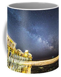 Golden Pier Under The Milky Way Version 1.0 Coffee Mug