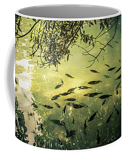 Golden Pond With Fish Coffee Mug