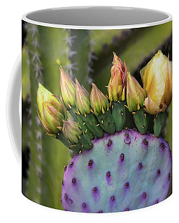 Coffee Mug featuring the photograph Golden Prickly Pear Buds  by Saija Lehtonen