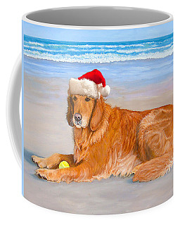 Golden Retreiver Holiday Card Coffee Mug