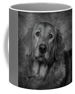 Coffee Mug featuring the photograph Golden Retriever In Black And White by Greg Mimbs