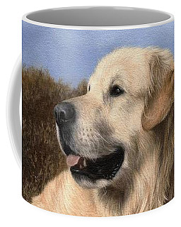 Golden Retriever Painting Coffee Mug by Rachel Stribbling