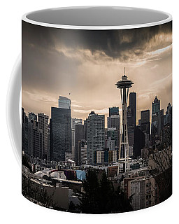 Coffee Mug featuring the photograph Golden Seattle by Chris McKenna