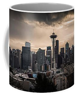 Golden Seattle Coffee Mug by Chris McKenna
