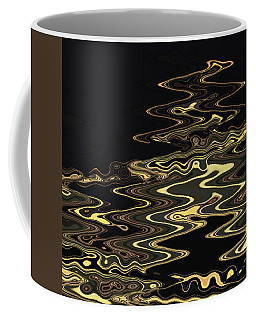 Golden Shimmers On A Dark Sea Coffee Mug