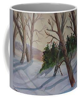 Golden Sky In The Snow Coffee Mug