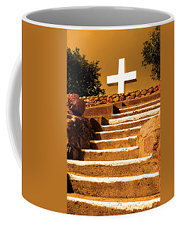 Coffee Mug featuring the photograph Golden Stairway by Howard Bagley