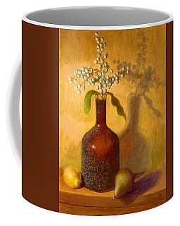 Coffee Mug featuring the painting Golden Still Life by Joe Bergholm