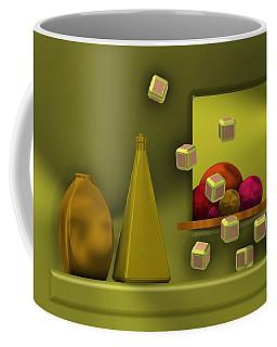 Golden Still Life With Red Balls  Coffee Mug