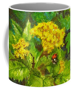 Golden Summer Blooms Coffee Mug