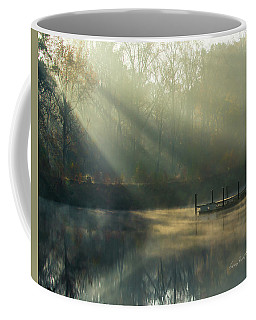 Coffee Mug featuring the photograph Golden Sun Rays by George Randy Bass