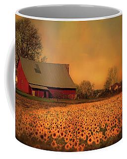 Golden Sunflower Harvest Coffee Mug