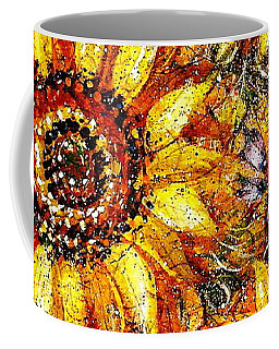 Coffee Mug featuring the painting Golden Sunflower by Natalie Holland