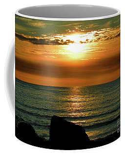 Coffee Mug featuring the photograph Golden Sunset At The Beach IIi by Mariola Bitner