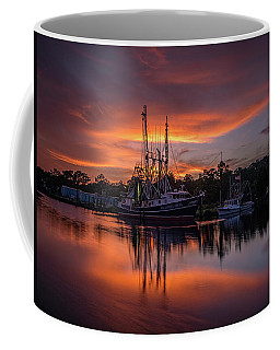 Golden Sunset On The Bayou Coffee Mug