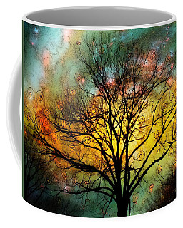 Golden Sunset Treescape Coffee Mug by Barbara Chichester
