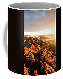 Golden Tasmania Coastline Coffee Mug