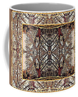 Coffee Mug featuring the photograph Golden Tree Design by Joy Nichols