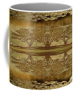 Golden Trees Reflection Coffee Mug