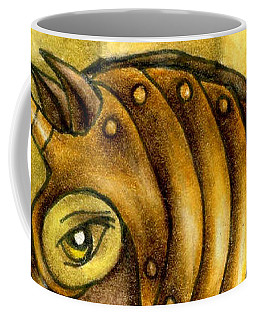 Golden Unicorn Warrior Art Coffee Mug