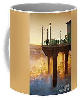 Golden Waves Coffee Mug by Jerry Cowart