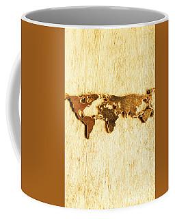 Golden World Continents Coffee Mug