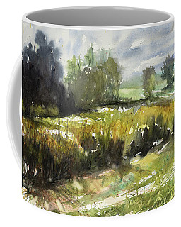 Goldenrod On The Lane Coffee Mug by Judith Levins
