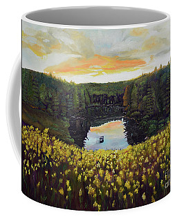 Goldenrods On Davenport Lake-ellijay, Ga  Coffee Mug