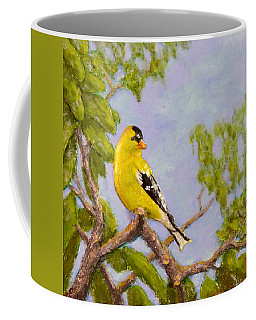 Coffee Mug featuring the painting Goldfinch by Joe Bergholm