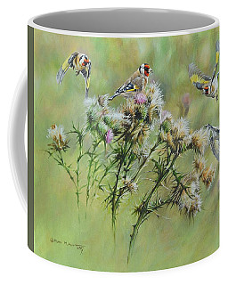 Goldfinches On Thistle Coffee Mug