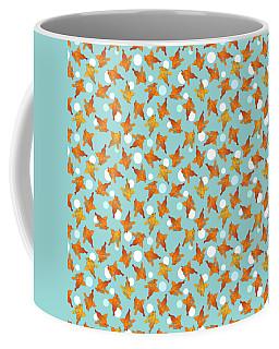 Goldfish And Bubbles Pattern Coffee Mug