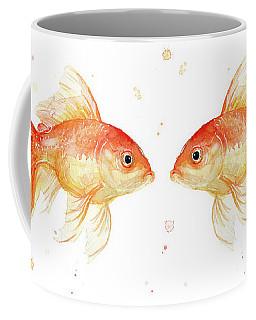 Goldfish Love Watercolor Coffee Mug