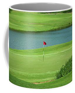 Golf Approaching The Green Coffee Mug by Chris Flees