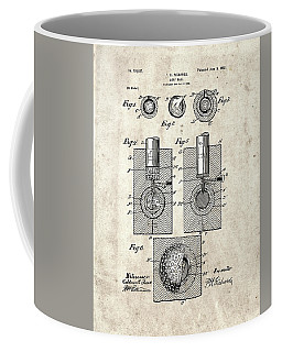 Golf Ball Patent Drawing Vintage 2 Coffee Mug