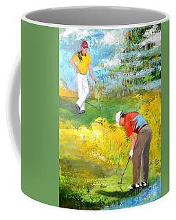 Golf Buddies #2 Coffee Mug by Betty M M Wong
