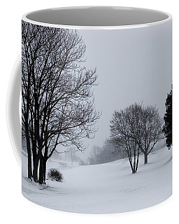 Golf Course Covered With Snow Coffee Mug