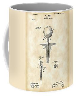 Golf Tee Patent 1899 - Vintage Coffee Mug by Stephen Younts