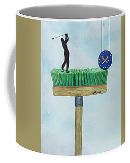 Golfer Coffee Mug by Edwin Alverio