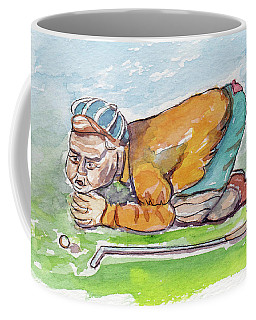 Golfer With Hot Air Coffee Mug