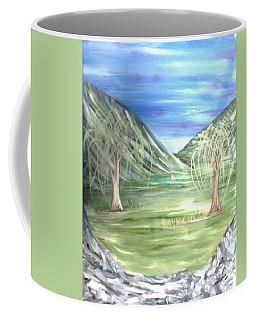Golfing In Glacier Coffee Mug