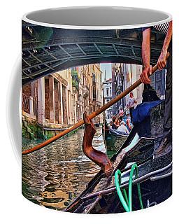 Coffee Mug featuring the photograph Gondola 2 by Allen Beatty