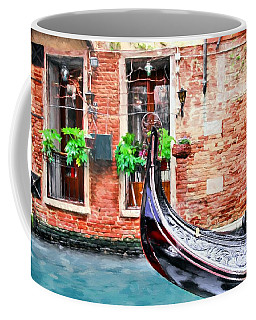Coffee Mug featuring the photograph Gondola In Venice by Mel Steinhauer