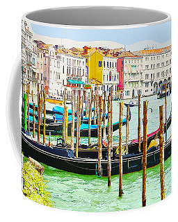 Gondolas On The Grand Canal Venice Italy Coffee Mug