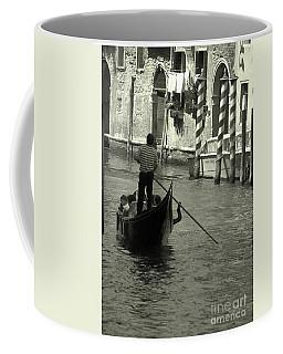 Gondolier In Venice   Coffee Mug