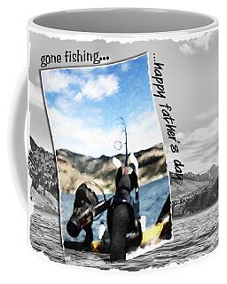 Gone Fishing Father's Day Card Coffee Mug