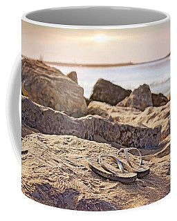 Coffee Mug featuring the photograph Gone Surfin' by Alison Frank