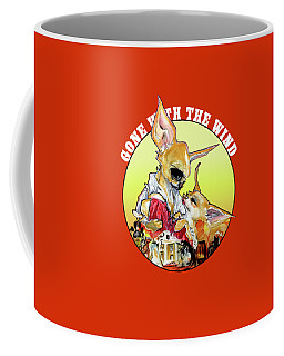 Gone With The Wind Chihuahuas Caricature Art Print Coffee Mug