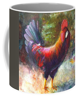 Coffee Mug featuring the painting Gonzalez The Rooster by Talya Johnson